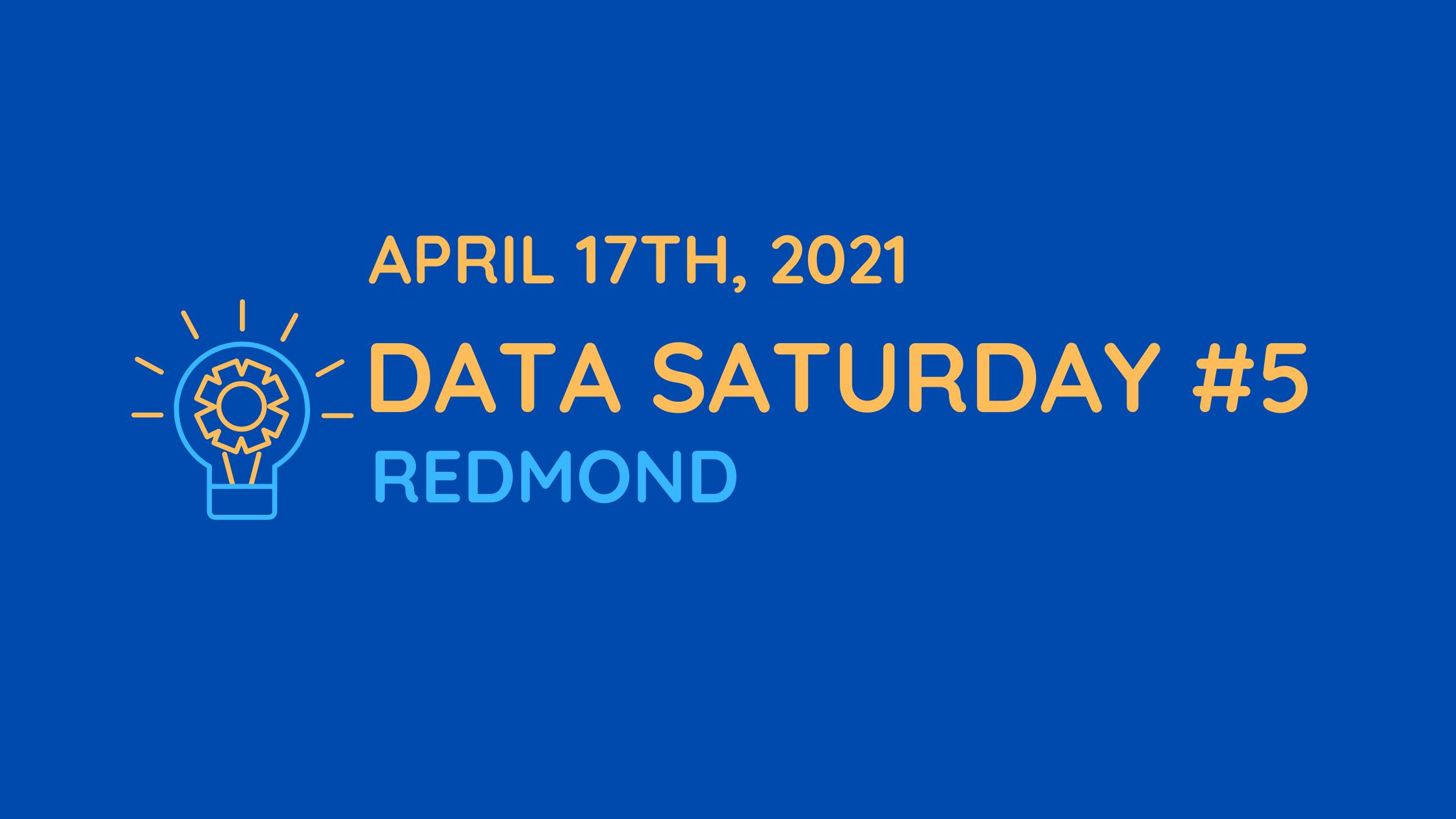 April 17 Data Saturday